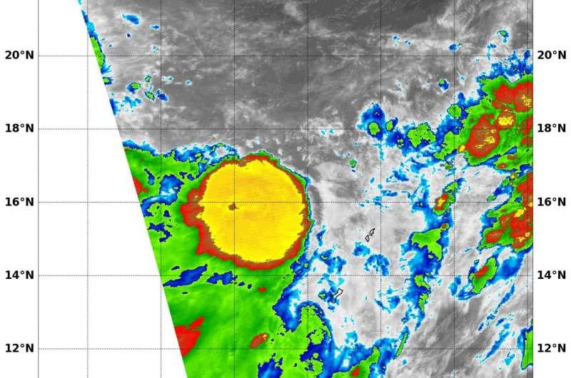 NASA sees Tropical Depression 10W form near Guam