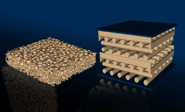 3-D printed foam outperforms traditional cellular materials in long-term stress