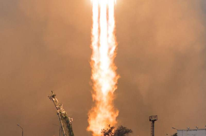 Image: Expedition 49 launch to the International Space Station