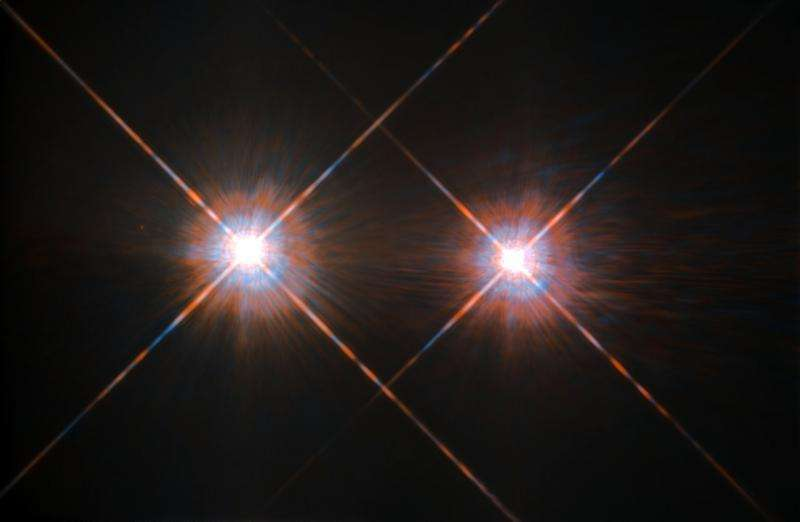 Image: Hubble's best image of Alpha Centauri A and B