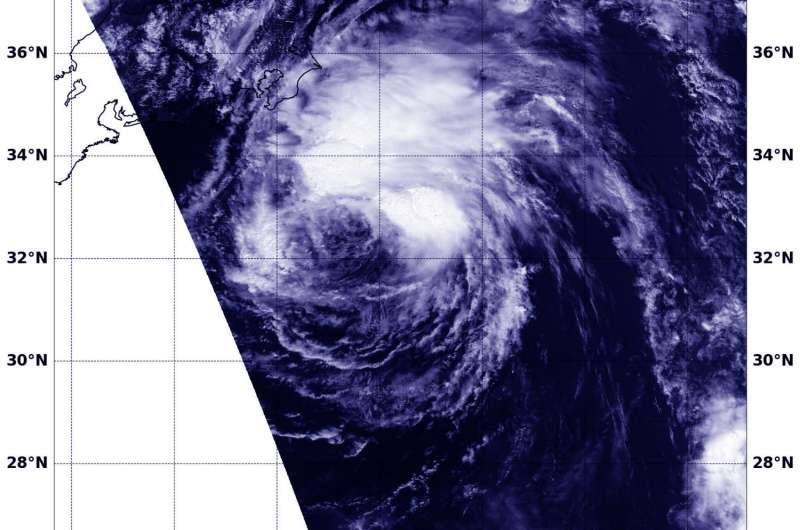 NASA sees wind shear affecting Tropical Storm Chanthu