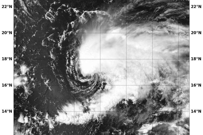 NASA spots Tropical Storm Conson facing wind shear