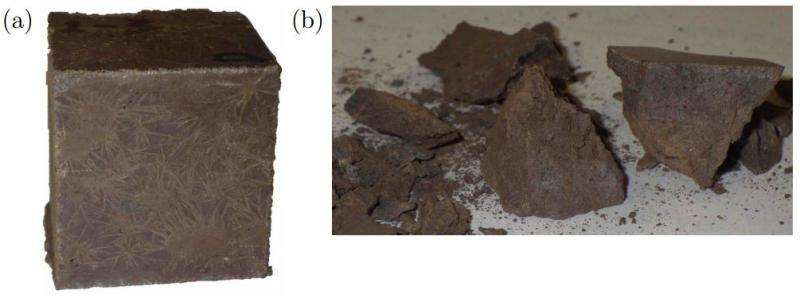 Martian concrete made from materials only on the Red planet