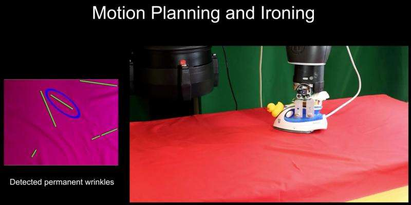 Columbia team has research robot ironing cloth