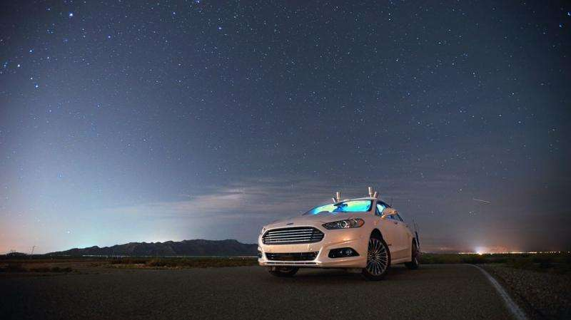 Ford Fusion autonomous research vehicles use LiDAR sensor technology to see in the dark
