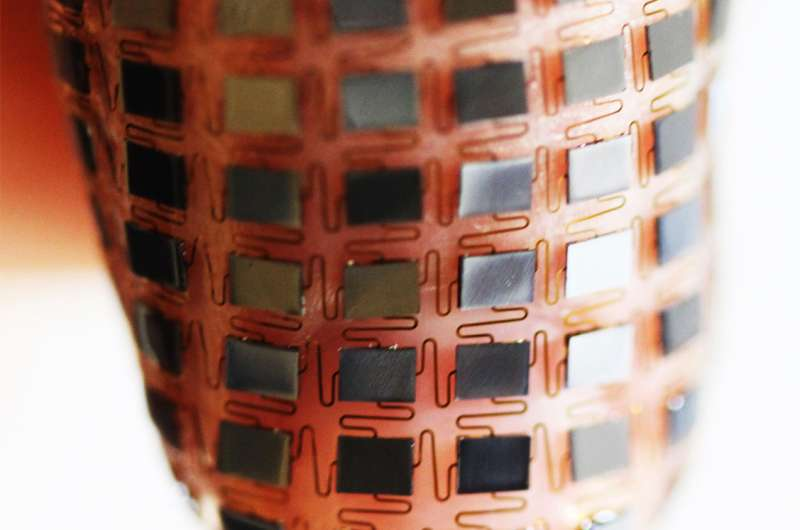 Stretchable batteries that can be applied to the skin like a band-aid