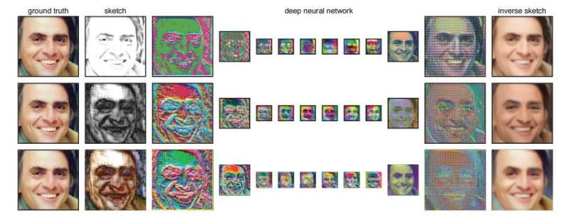 Neural network used to create realistic-looking 'photograph' from line drawn face