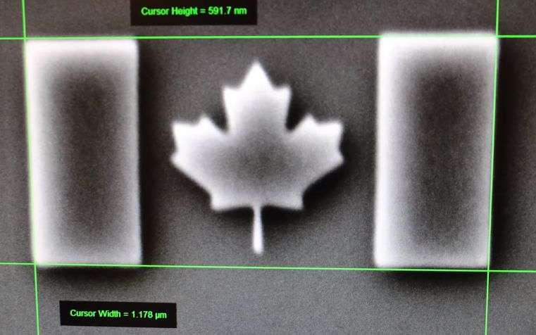 Nano-scale Canadian flag sets world record in lead-up to nation's 150th birthday