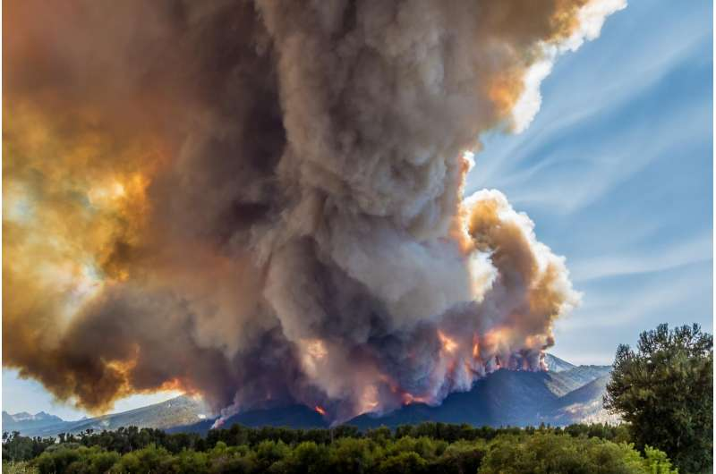 Climate change has doubled western US forest fires