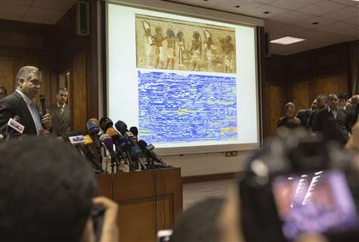 Egypt says scan of King Tut's burial tomb shows hidden rooms