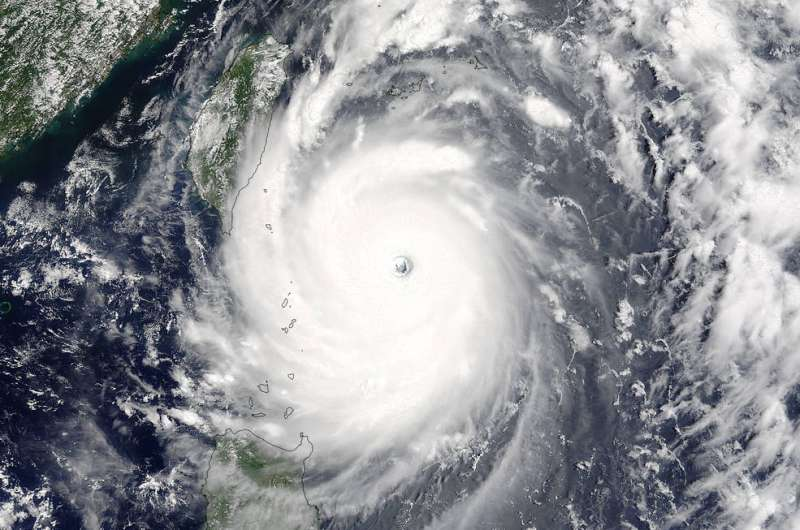 Tropical cyclones on track to grow more intense as temperatures rise