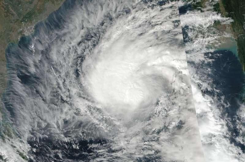 NASA spots Tropical Cyclone Vardah's off-center strength