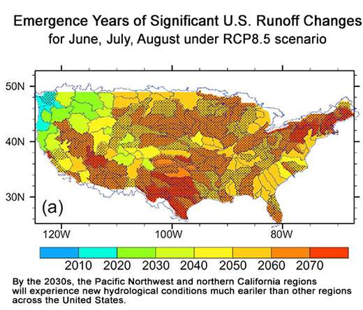 Global warming is likely to drive significant shifts in regional surface water availability