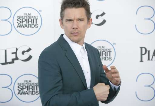 """Actor Ethan Hawke narrates the six-minute VR animated film """"Invasion"""", which was screened in Cannes on Monday"""