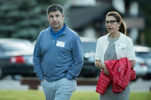 Anthony Noto (L), chief financial officer of Twitter, will take over Bain's job, serving in both posts until the board hires a n