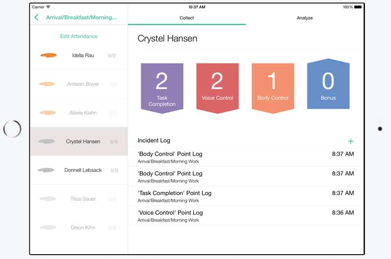 App helps teachers track student behavior in a busy environment