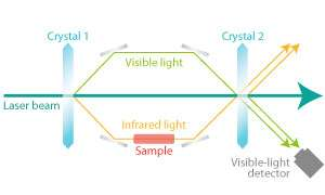 A quantum effect allows infrared measurements to be performed by detecting visible light