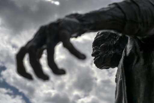 A statue of Frankenstein's monster in Geneva