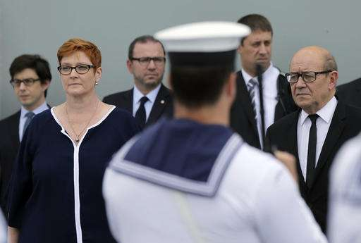 Australia and France sign deal to build 12 submarines