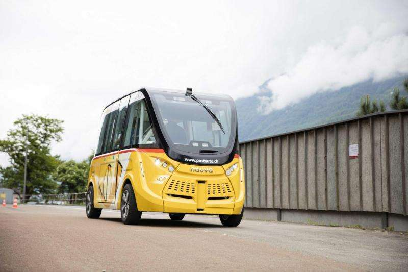 Autonomous shuttles start giving rides in Sion