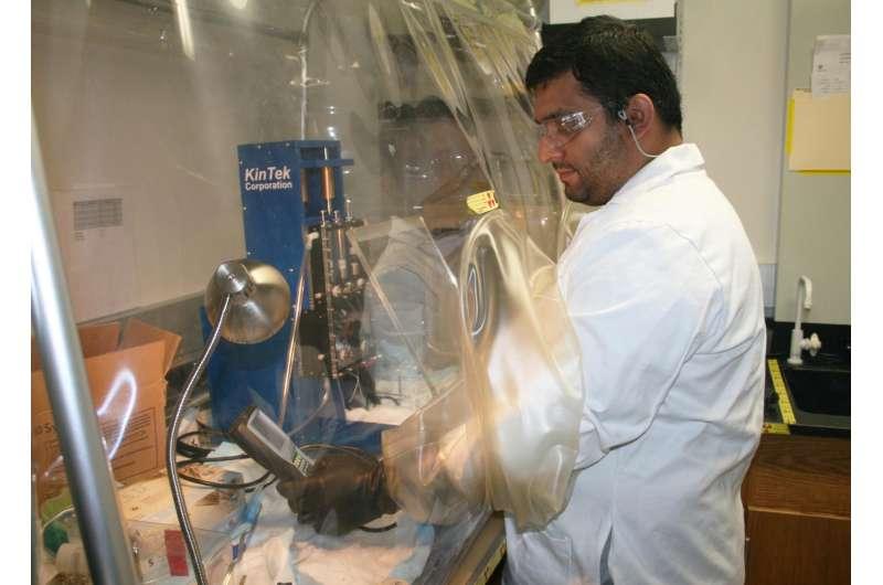 Bichemist Karamatullah Danyal in Utah State University's Seefeldt Lab