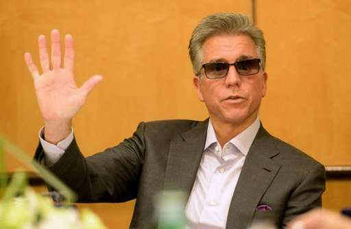 Bill McDermott, CEO of German software company SAP, speaks to reporters during a meeting at the Foreign Correspondent Associatio