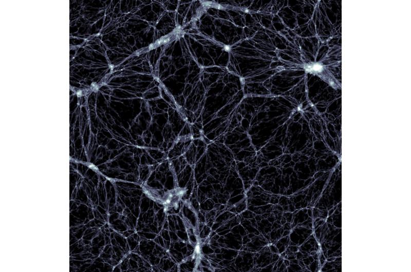 Black holes banish matter into cosmic voids