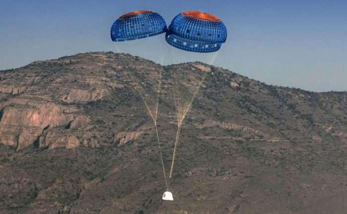 Blue Origin test to include deliberately failed crew capsule parachute deployment