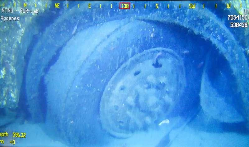 Bombs and buses 600 metres deep