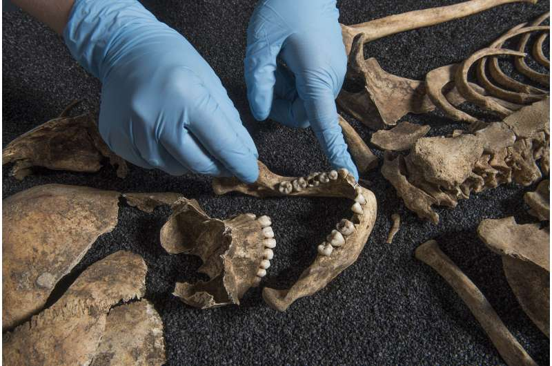 Bones found in Roman-era grave in London may be Asian