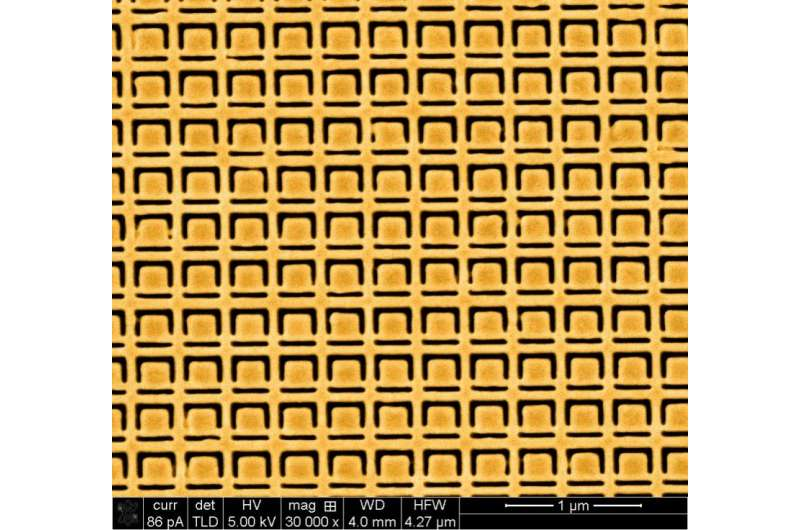 Breaking metamaterial symmetry with reflected light