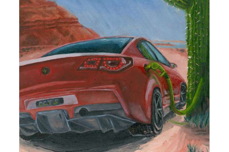 Cactus-inspired skin gives electric cars a spike