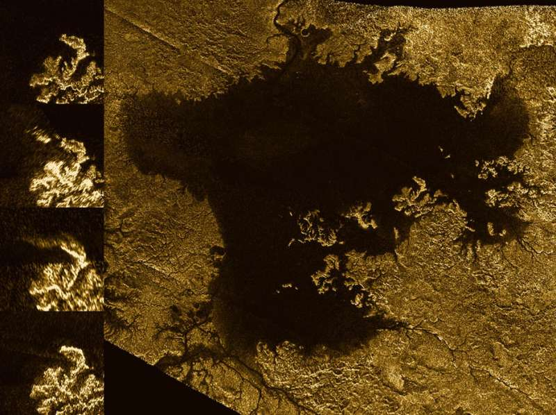 Cassini finds flooded canyons on Titan