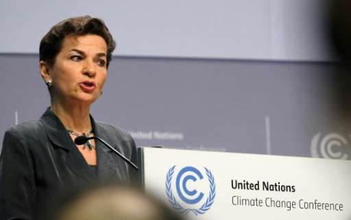 Christiana Figueres, pictured on May 16, 2016, took on the UN climate brief in the aftermath of the failed 2009 Copenhagen summi