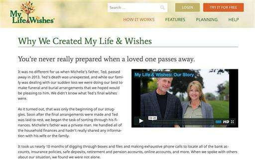 Click here when I die: Sites lay out plans for loved ones