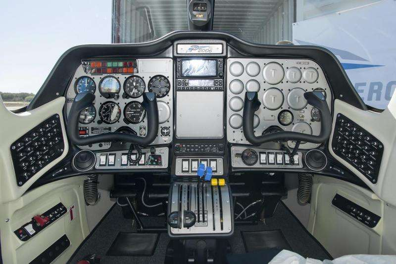 Cockpit of the first all-electric propulsion aircraft