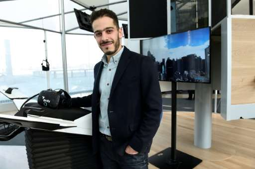 Co-owner of MK2 Elisha Karmitz stands at the MK2 VR, the first permanent space dedicated to virtual reality in Paris