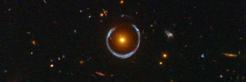 Cosmic horseshoe is not the lucky beacon