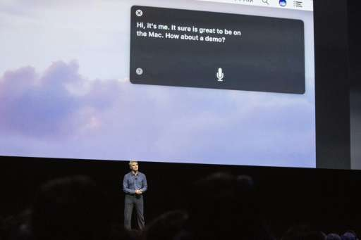 Craig Federighi, Apple's senior vice president of Software Engineering, introduces the new macOS Sierra software at an event at