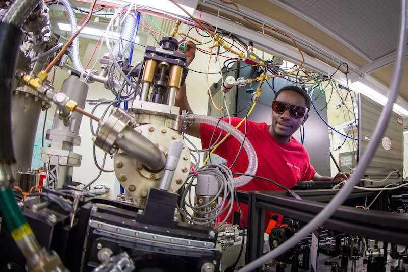 Creating attosecond laser pulses by inducing 'high harmonic generation' in a solid