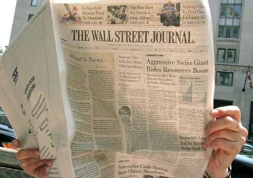 Digital subscriptions to The Wall Street Journal were up 26 percent year-over-year to 948,000, according to declarations by News