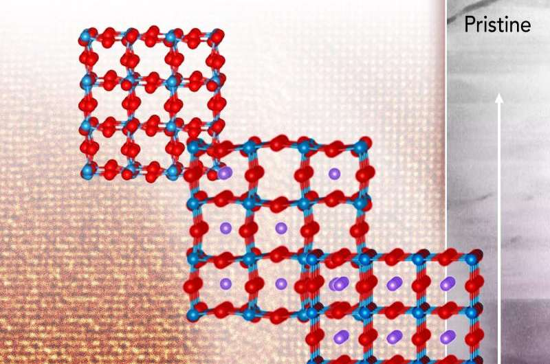 Direct imaging of two chemical processes shows reason behind electrode material's collapse