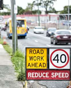 Drivers go faster than what they think is safe in roadworks zones