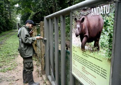 Dr Zulfi Arsan, head veterinarian at the Sumatran Rhino Sanctuary at Way Kambas, says there is still demand for rhino horn, thre