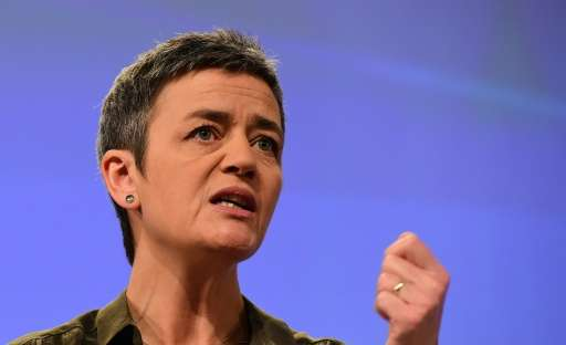 European Commissioner for Competition Margrethe Vestager, pictured on January 11, 2016, all but confirmed that her team was read