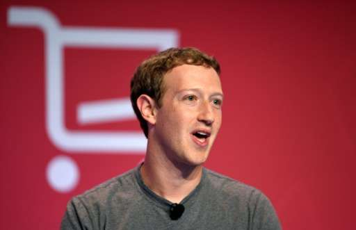 Facebook chairman Mark Zuckerberg speaks during a keynote speech at the Mobile World Congress in Barcelona on February 22, 2016