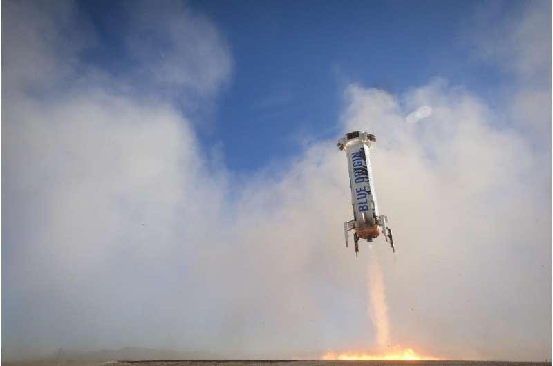 Fluid flow in weightlessness tested aboard Blue Origin suborbital space flight