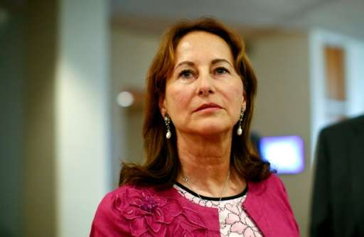 France's Segolene Royal, President of COP21 and Minister of the Environment, Energy and Marine Affairs speaks during a press con