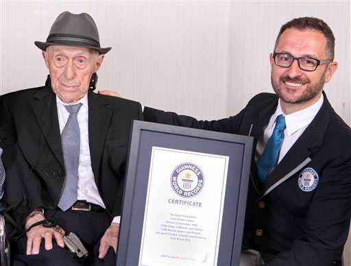 Guinness: Israel Holocaust survivor, 112, world's oldest man