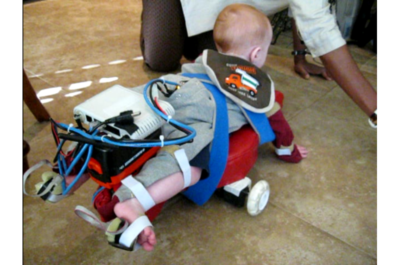How a robotic device gives at-risk babies a chance to crawl and explore